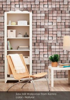 Saw Mill Wallpaper from Kemra - Patternsnap Blog, 'Scrap that!'.