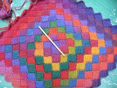 tunisian crochet. entrelac.