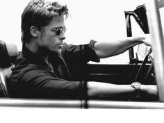 Brad Pitt Driving - actor, brad pitt, car, handsome, man, sexy