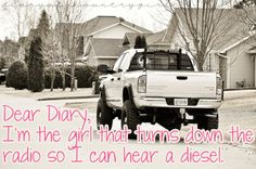 Damn Straight <3 I think I know more about diesel trucks than most guys I know... Country Strong, Country Boys, Country Life, Country Chic, Country Living, Redneck Girl Quotes, Country Girl Quotes, Girl Sayings, Country Sayings
