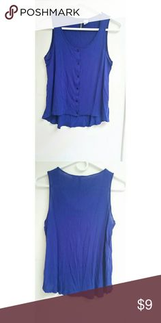 H&M Hi-low Top Purple bluish color hi-low knit top from Divided label at H&M. Worn once, like new!  Size 6 100% viscose H&M Tops Crop Tops