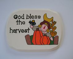 God bless the harvest - Christian/Inspirational wall hanging - pinned by pin4etsy.com