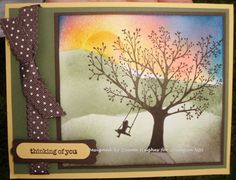 Forever Young Stampin UP     DH Sponged Sunset by diane617 - Cards and Paper Crafts at Splitcoaststampers