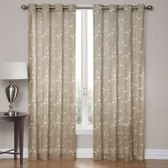 Delany Embroidered Sheer Window Panel