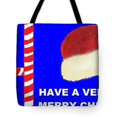 Tote Bag of 'Have A Very Merry Christmas' by Sumi e Master Linda Velasquez