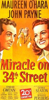 A poster fromMIRACLE ON34THSTREET(1947) withJohn Payne, Edmund Gwenn,Maureen O'HaraandNatalie Wood. Lockhart played Judge Henry Harper in this holiday classic, the man who must decide the fate of Kris Kringle, a man on trial for lunacy because he claimed to be Santa Claus.