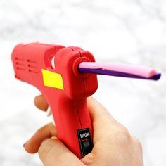DIY Multicolored Hot Glue Gun Craft Hack | Karen Kavett