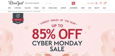 Want more fancy clothes? The Rosegal promotion for Cyber Monday continues until the 29th Rosegal.com