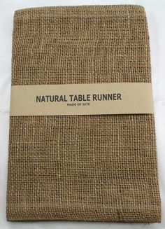 Burlap Table Runner 14 x 72  rustic country weddings by CKCCompany, $5.75