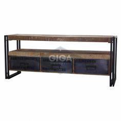 Industrieel tvmeubel met 3 laden bij Giga meubel Altijd de Laagste Prijs kom naar de winkel of koop direct online op gigameubel.nl