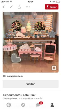 Ideas Aniversario, Mesas Para Baby Shower, Desert Table, Party Rock, Festa Party, Candy Table, Baby Party, Shower Party, Birthday Decorations