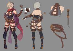 ArtStation - Some exercises Artist/Character Design:Bixiang He #characterdesign #conceptart #modelsheet