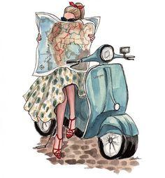 Roadtrip illustration by Inslee Haynes