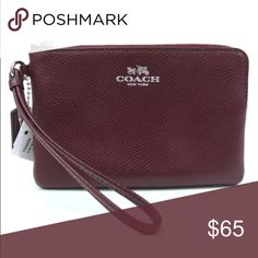 PRICE DROP⬇️🎉🚨NWT COACH Burgundy Wristlet Burgundy is the color for fall! 🍃🍁🌾 Fall in love with this genuine leather COACH wristlet.. NWT.. comes with a gift 📦.. Makes for a great gift! Coach Bags Clutches & Wristlets