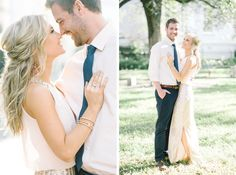 Bright and airy DOWNTOWN CHARLESTON ENGAGEMENT PHOTOS by wedding photographers, Aaron and Jillian Photography // Hair & Makeup by Ash & Co Bridal