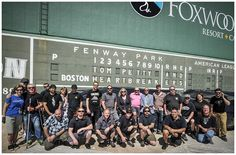 Tom Petty crew shot at Boston's Fenway Park in 2014. Richard Fernandez is in the back row, six from the right. Photo by Andy Tennille