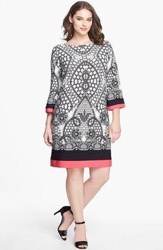 #Eliza J                  #Dresses                  #Eliza #Print #Jersey #Shift #Dress #(Plus #Size)   Eliza J Print Jersey Shift Dress (Plus Size)                                  http://www.snaproduct.com/product.aspx?PID=5130691