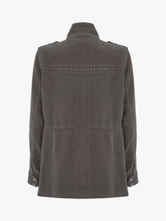 Tommy Jeans Camo Sherpa Jacket, Green at John Lewis & Partners