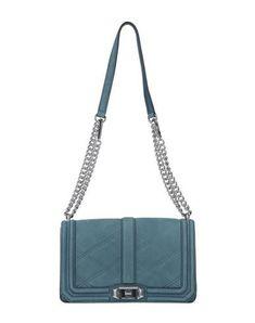 REBECCA MINKOFF Shoulder bag. #rebeccaminkoff #bags #shoulder bags #leather #metallic Leather Shoulder Bag, Shoulder Strap, Shoulder Bags, Pastel Blue, Medium Bags, World Of Fashion, Crocodile, Luxury Branding, Crocs