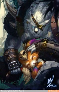 Rengar and gnar league of legends DAWWWWWWWW