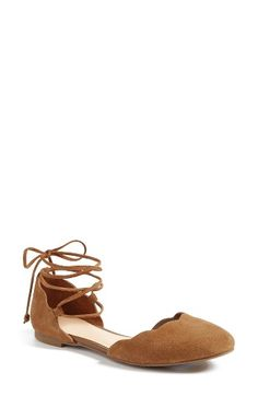Free shipping and returns on BP. Sophie Lace-Up Flat (Women) at Nordstrom.com. Wraparound ghillie laces and a scalloped topline sweeten the look of a lush suede flat with breezy open sides.