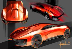 C111 Mercedes Thesis - in Progress by Philipp Haban, via Behance