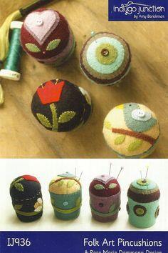 Primitive Folk Art Wool Applique Pattern FOLK by PrimFolkArtShop