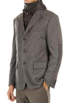 """Corneliani jacket and vest with removable hood. [""""Art. 28-16233 / 16""""]"""