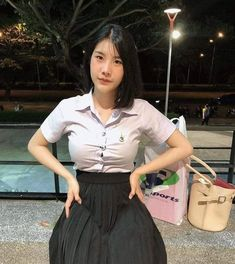 School Girl Fancy Dress, All Girls School, Cute Asian Girls, Beautiful Asian Girls, Cute Girls, Sexy Outfits, Girl Outfits, Oriental, Cute Girl Pic