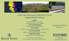 #Agenda Cena Maridaje en Estoril_GEstoril y Keller Estate Winery