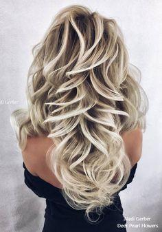 Nadi Gerber long wavy wedding hairstyles #weddings #hairstyles #weddinghairstyles #bridalhairstyles #weddingideas ❤️ http://www.deerpearlflowers.com/wedding-prom-hairstyles-from-nadi-gerber/