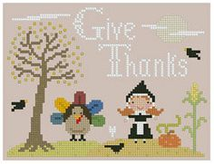 Thanksgiving+Cross+Stitch+by+Theflossbox+on+Etsy,+$3.50