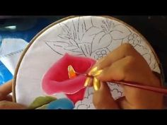 Pintura en tela vendedora de flores # 7 con cony