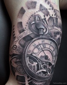 Clock Tattoo Ideas for Men | Clock Tattoos | Tattoo Designs, Tattoo Pictures | Page 12