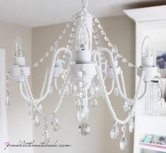 The Chandelier Saga: DIY Before and After Pictures got the perfect old chandelier to use fir this!!!
