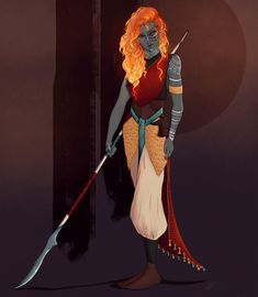 Now that this campaign has officially started, I can share DnD character art I've done! This is my new character, Embre, a Fire Genasi Blood Hunter. Character Design Sketches, Fantasy Character Design, Character Design Animation, Character Creation, Character Design Inspiration, Character Concept, Character Art, Character Ideas, Character Illustration