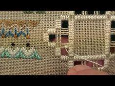06 Loving Friends Music Box - Hardanger - Blanket Stitch Flower Filling Stitch - YouTube
