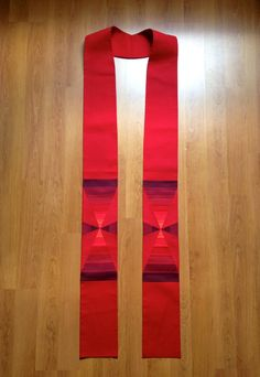 Red Clergy Stole for Pentecost Reformation or by LHfabricArtist, $160.00
