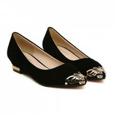 $14.01 Casual Women's Flat Shoes With Stylish Metal Pointed Toe Design