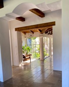 Entry way to dining room. Pond House, Montecito, Ca. Home. #capedutch #architecture Don Nulty photo: Carolyn Espley-Miller