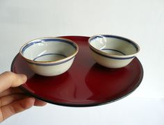 Porcelain sake/tea cups Japanese antique set by WhatsForPudding