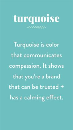 The Psychology of Color in Branding by Pace Creative Design Studio - Turquoise is my favorite! Psychology Quotes, Color Psychology, Psychology Studies, Psychology Meaning, Behavioral Psychology, Personality Psychology, Health Psychology, Psychology Experiments, Psychology Careers