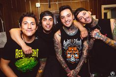 Pierce The Veil before their set on the Second Leg of The World Tour. full set- http://adamelmakias.com/live/pierce-the-veil-the-world-tour-leg-2-photos/