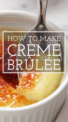 How to Make Crème Brûlée - - How to Make Crème Brûlée Simply Recipes Videos! Looking for the best, most perfect, most foolproof creme brulee recipe? This creme brulee is rich and creamy, and we walk you through every step. Desserts Français, French Desserts, Spanish Desserts, Tasty, Yummy Food, Cooking Recipes, Healthy Recipes, Meal Recipes, Simply Recipes