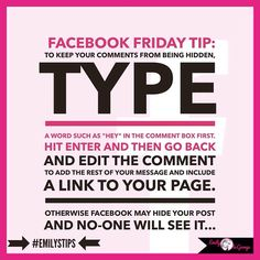A tip that may assist you in getting your posts seen better.