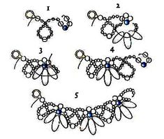 Free pattern for beautiful beaded necklace Primrose with dagger beads.  U need:    dagger beads    seed beads 8/0 or small pearls beads 2-3 mm    seed beads 10/0-11/0  - See more at: http://beadsmagic.com/?p=3016#more-3016