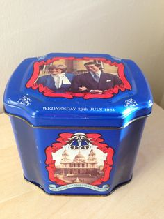 Vintage tea-tin of Charles & Diana wedding commemoration.St. Paul's London./Prince of Wales and Lady Diana Spencer by trevoranna on Etsy