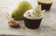 Cupcake de pera e nozes é opção saudável para a hora do doce