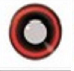 Red Black Outline Halloween Contact Lenses Yearly - Colored Contacts
