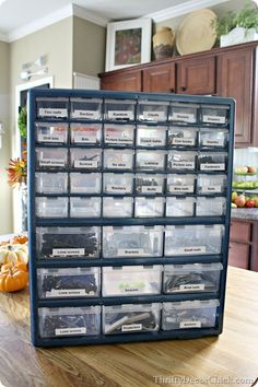 An awesome way to #organize all the small odds and ends around the house!